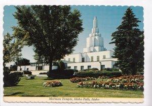 Mormon Temple, Idaho Falls, Idaho, used Postcard