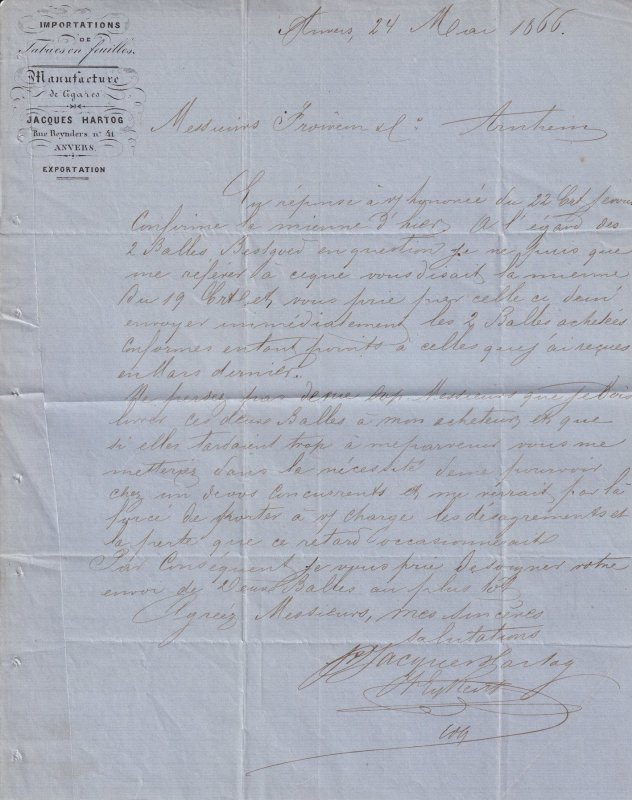 Cigar Manufacturers Tobacco 1866 3x Victorian Letter s