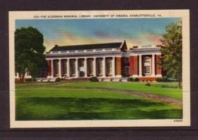 Virginia Post Card Alderman Lib University of Va