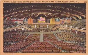 New Jersey Ocean Grove Auditorium Interior Showing Largest Organ In The World
