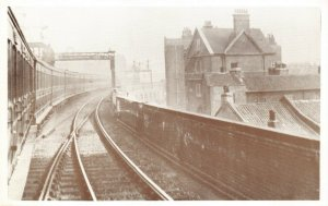 Postcard Waterloo to Southampton Boat Train leaving Waterloo 10th April 1912 CA5