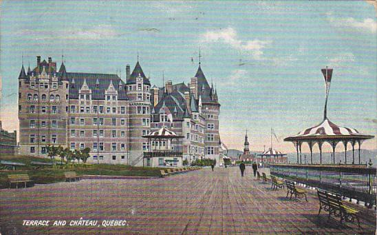 Terrace and Chateau, QUEBEC, Canada, PU-1909
