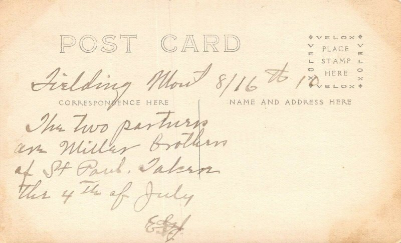 LP33  Fielding   Montana Postcard  Sharpshooters Miller Brothers 4th July RPPC