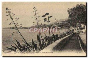 Old Postcard Menton Old Town and the Bay of Garavan