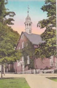 North Carolina Winston Salem The Home Moravian Church Handcolored Albertype