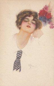 Art Deco Female Head portrait , 00-10s