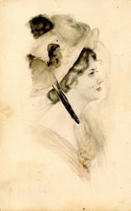Women - Lady With Big Hat   Artist: Frederick Manning