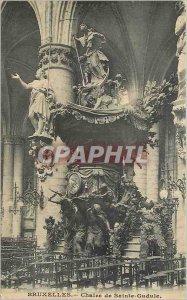 Old Postcard Brussels Sainte Gudule Chair