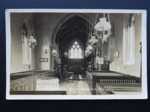 Leicestershire SHARNFORD St. Helen's Church Interior - Old RP Postcard