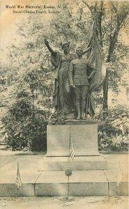 Chester Sculptor Exeter New Hampshire World War Memorial 1920s Postcard 20-2674