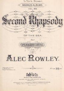 Alex Rowley Second Rhapsody Of The Sea Olde Piano Sheet Music