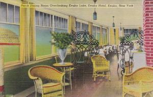 New York Keuka Porch Dining Room Keuka Hotel Overlooking Keuka Lake