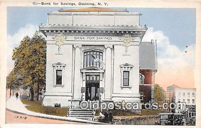Bank for Savings Ossining, NY, USA Postcard Post Card Ossining, NY, USA Postc...