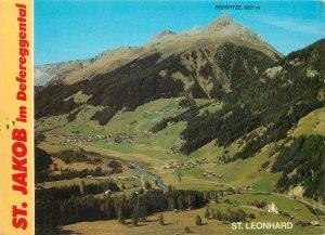 Postcard Austria st jakob im defereggental seespitze st leonhard