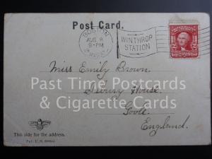 c1907: Postmark - 'WINTHROP STATION' BOSTON / MASS