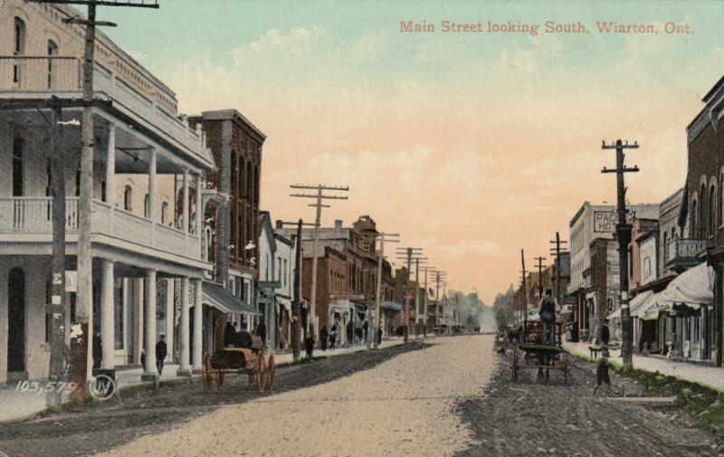 WIARTON , Ontario , Canada , 1910 ; Main Street , Looking South
