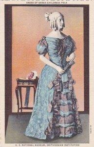 Washington DC Dress Of Dress Of Sarah Childress Polk U S Nationsal Museum Smi...