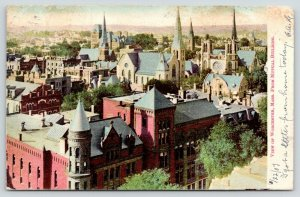 Worcester Massachusetts~Bird's Eye Panorama from Mutual Building~1907 Postcard