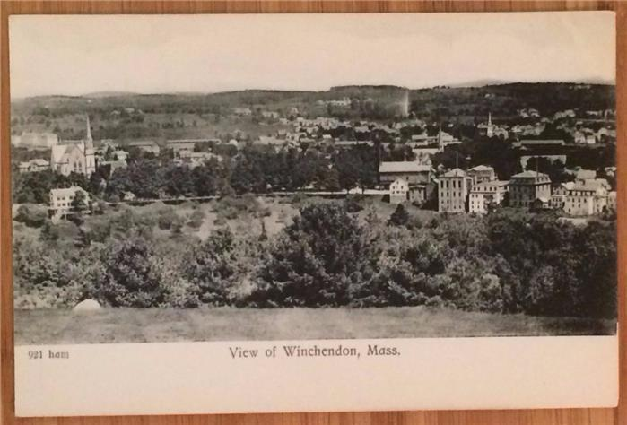 View of Winchendon, Mass. 921 ham, Undivided Back, Unposted