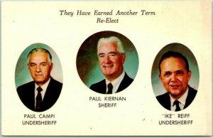 1968 Freehold, New Jersey Political Campaign Postcard PAUL KIERNAN for SHERIFF