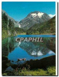 Postcard Modern Cavloccio See bei Maloja Engadin Schweiz