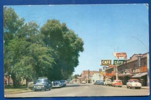 Mountain View Idaho id Main Street chrome postcard