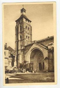 BEAULIEU-sur-DORDOGNE (Correze), France 1910-30s  Clocher et portail de l'Eglise
