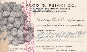 Advertising Alco G Psiaki Company Chick Pea Importers 1914
