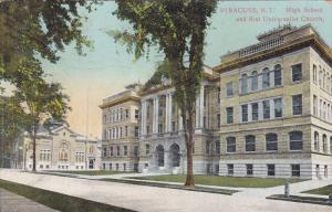 High School And First Universalist Church, Syracuse, New York, PU-1912