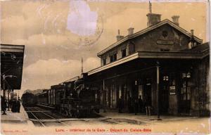 CPA LURE - Interieur de la Gare - Depart du Calais-Bale (452408)