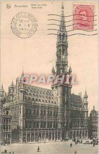 Old Postcard Brussels City Hotel