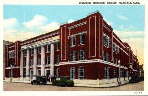 Oklahoma Muskogee Municipal Building Curteich
