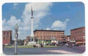 Northwest Business Section of Public Square, Angola, Indiana, 40-60s
