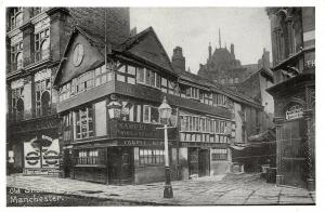 Reproduction Vintage 1902 Postcard, Old Shambles, Manchester 98T