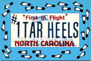 North Carolina The Tar Heel State First In Flight License Plate