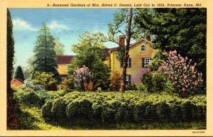 Maryland Princess Anne Boxwood Gardens Home Of Mrs Alfred P Dennis Curteich