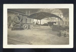 RPPC WWI MILITARY US ARMY CAPTURES GERMAN FOUNDRY REAL PHOTO POSTCARD