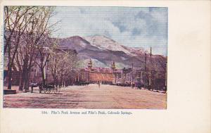 Colorado Pike's Peak Avenue and Pike's Peak Colorado Springs