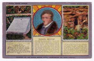 Antique 1915-1930 Daniel Boone Pioneer Old Grave/Cave/Marker Hotel Charleston WV