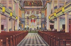 Interior Of Saint Louis Cathedral New Orleans Louisiana 1943