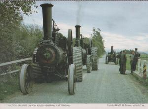 Temuka Rally Traction Engines Farm Procession Kent Womens Institute Postcard