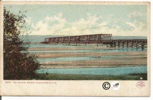 Vintage Undivided Back Postcard, Rio Grande Bridge Albuquerque New Mexico