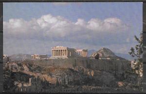 Greece, Athens, in flight with TWA postcard, unused