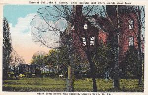 Home Of Col. John T. Gibson, CHARLES TOWN, West Virginia, 1910-1920s