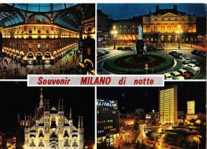 Italy, Souvenir MILANO di notte, used Postcard