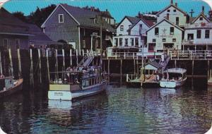 Maine Boothbay Excursion And Party Boats 1951