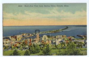 Linen Bird's-Eye View from Skyline Drive Duluth Minnesots MN