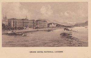 LUCERNE , Switzerland , 1900-10s ; Grand Hotel National