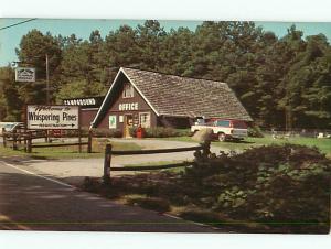 Vintage Post Card Whispering Pines Campground Boating Fishing Acworth GA  # 4809