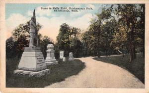 Chattanooga Tennessee in Kelly Field Chickamauga Park antique pc Z41574
